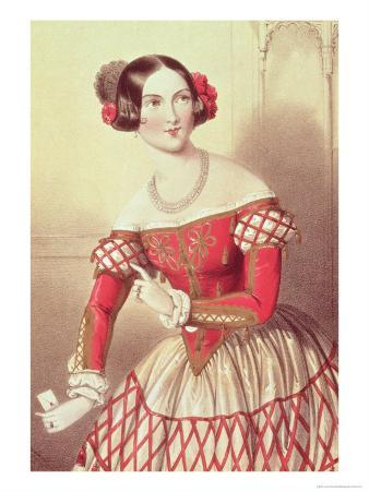 """Madame Sontag as Rosina in """"The Barber of Seville"""" 1849"""