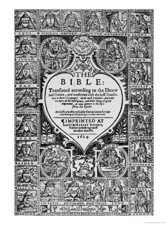 Title Page for the English Translation of the Geneva Bible, 1614