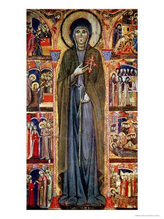 St. Clare with Scenes from Her Life