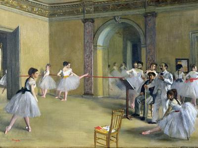 The Dance Foyer at the Opera on the Rue Le Peletier, 1872