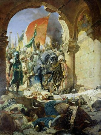 Entry of the Turks of Mohammed II into Constantinople, 29th May 1453, 1876