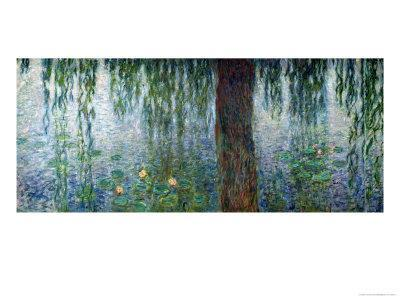 Waterlilies: Morning with Weeping Willows, Detail of the Left Section, 1915-26