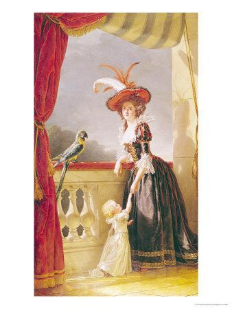 Portrait of Louise-Elisabeth de France Duchess of Parma and Her Son Ferdinand, 1786