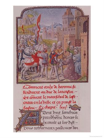 John of Gaunt Being Received by the Citizens of Bayonne at the Town Gates