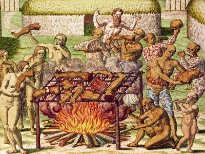 "Scene of Cannibalism, from ""Americae Tertia Pars..."", 1592"