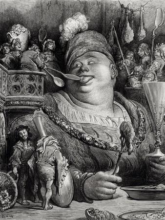 """Pantagruel's Meal, from """"Pantagruel"""" by Francois Rabelais"""