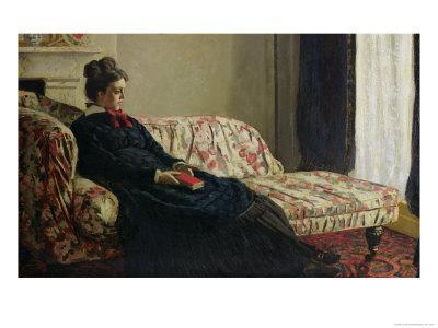 Meditation, or Madame Monet on the Sofa, circa 1871