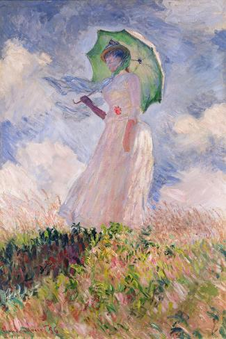 Woman with Parasol Turned to the Left, 1886