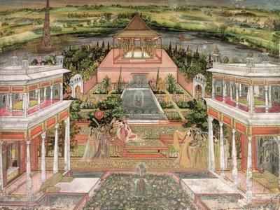 A Mughal Princess in Her Garden