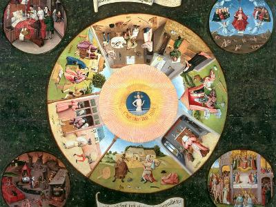 Tabletop of the Seven Deadly Sins and the Four Last Things