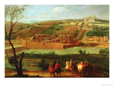 View of the Marly Machine and the Aqueduct at Louveciennes, 1722