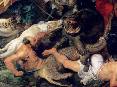 Hippopotamus and Crocodile Hunt, circa 1615-16