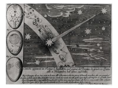 Astrological Diagram of a Comet That Appeared in Rome During Virgo and Remained Until November 1680