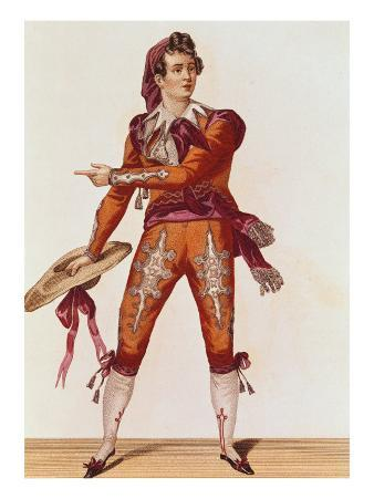 """Joseph Isidore Samson in the Role of Figaro in """"The Barber of Seville"""""""