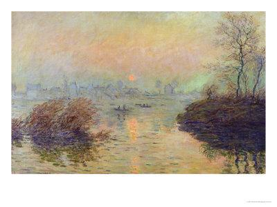 Sun Setting Over the Seine at Lavacourt. Winter Effect, 1880