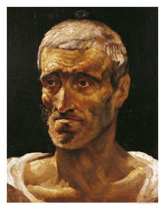 Head of a Shipwrecked Man, Study for the Raft of Medusa, 1817-19