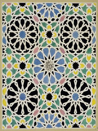 "Mosaic Pavement in the Alhambra, from ""The Arabian Antiquities of Spain"", Published 1815"