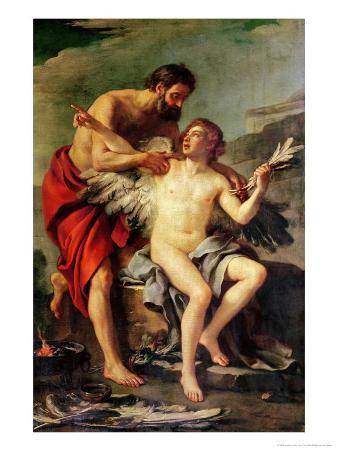 Daedalus Attaching Icarus' Wings, circa 1754