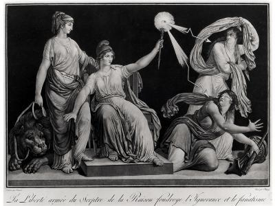 Liberty Armed with the Sceptre of Reason Striking Down Ignorance and Fanaticism, 1793