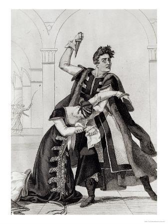 Francois-Joseph Talma as Hamlet and Mademoiselle Duchenois as Gertrude