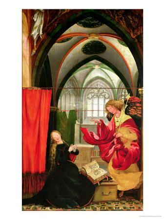 The Annunciation from the Isenheim Altarpiece, Left Hand Wing, circa 1512-16