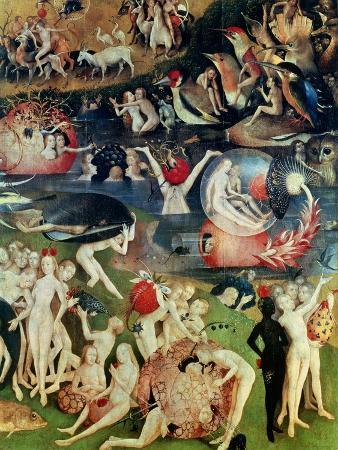 The Garden of Earthly Delights: Allegory of Luxury, Detail of the Central Panel, circa 1500