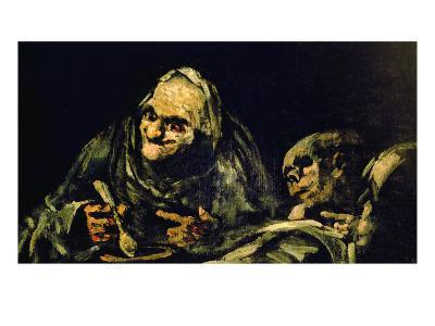 "Two Old Men Eating, One of the ""Black Paintings"", 1819-23"