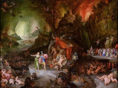Aeneas and the Sibyl in the Underworld, 1598