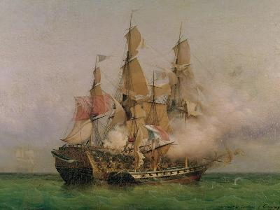 "The Taking of the ""Kent"" by Robert Surcouf in the Gulf of Bengal, 7th October 1800, 1850"