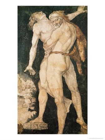 Hercules and Antaeus, circa 1530