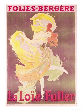 Poster Advertising Loie Fuller at the Folies Bergeres, 1897