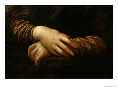 Mona Lisa, Detail of Her Hands, circa 1503-06