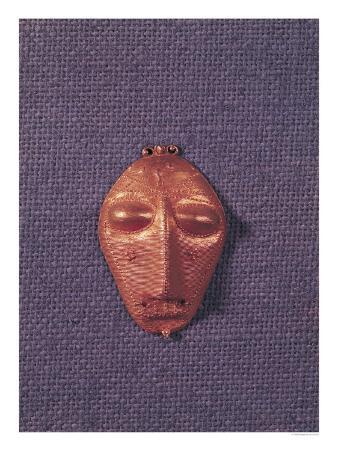 Pendant of a Human Mask, Baule Population, Ivory Coast, 18th-20th Century