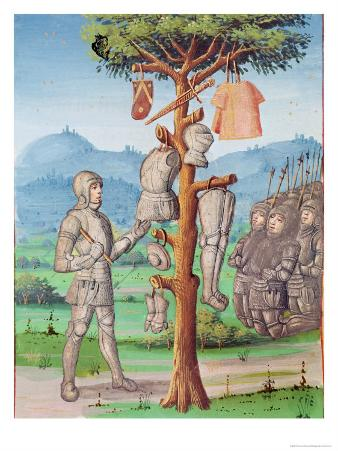 Aeneas Hangs the Armour of Mezentius from an Oak Tree