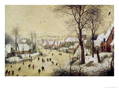 Winter Landscape with Skaters and a Bird Trap, 1565