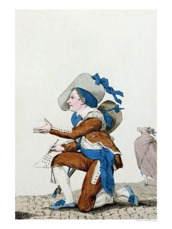"""The Actor Dazincourt at the Theatre Francais in the Role of Figaro in """"The Barber of Seville"""""""