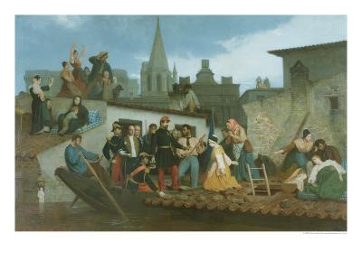 Napoleon III Visiting Flood Victims of Tarascon in June 1856, 1856