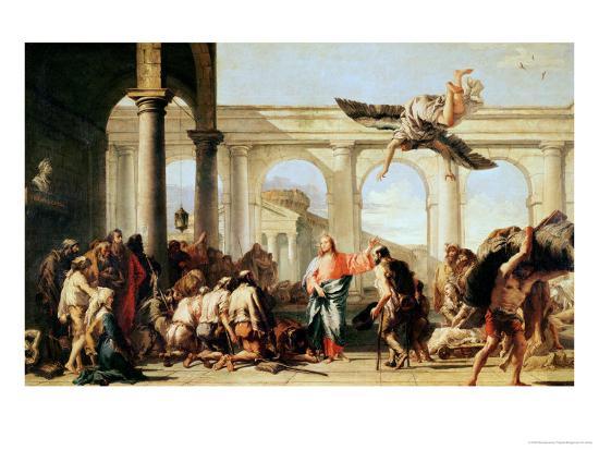 Jesus Healing The Paralytic At Pool Of Bethesda Circa 1759