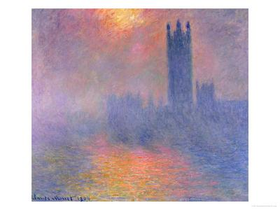 The Houses of Parliament, London, with the Sun Breaking Through the Fog, 1904
