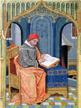 "Matthaeus Platearius Writing ""The Book of Simple Medicines"", circa 1470"