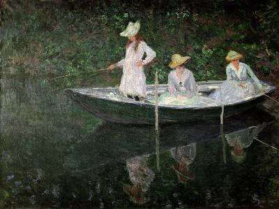 The Boat at Giverny, circa 1887