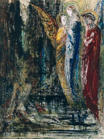Job and the Angels, circa 1890