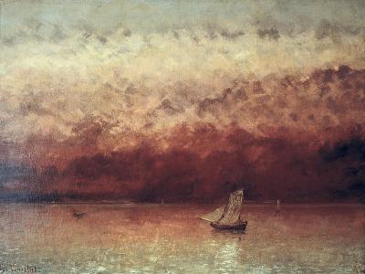 Lake Leman with Setting Sun, circa 1876