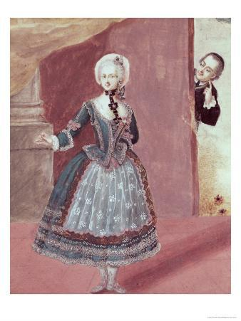 """Actress in Role of Rosine in """"The Barber of Seville"""" by Pierre-Augustin Caron de Beaumarchais"""