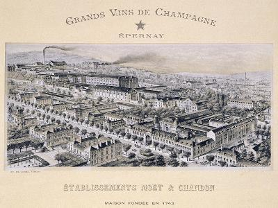 """Moet & Chandon Company, Epernay, from """"La France Vinicole"""", Published by Moet & Chandon"""
