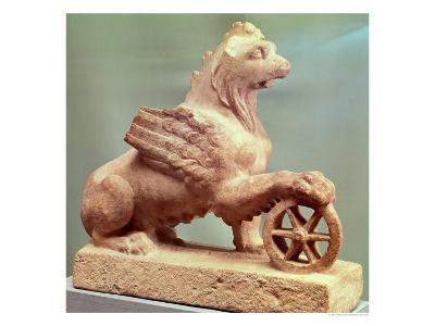 Griffin with the Wheel of Fortune, from Erez, circa 210-211