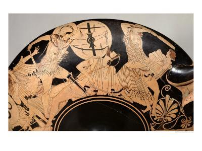 Attic Red-Figure Cup Depicting Scenes from the Trojan War, circa 490 BC