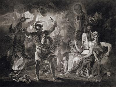 "Macbeth, the Three Witches and Hecate in Act IV, Scene I of ""Macbeth"" by Shakespeare Published 1805"