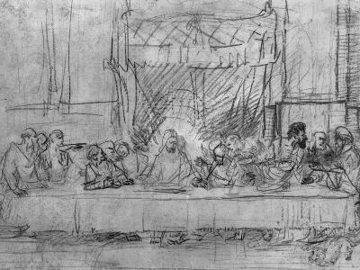 The Last Supper, after the Fresco by Leonardo Da Vinci circa 1635