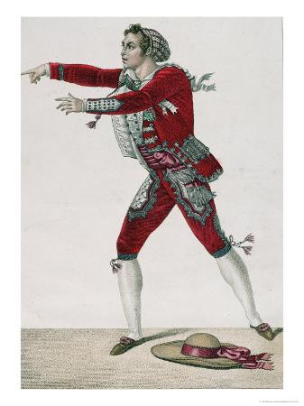 "The Actor Thenard in the Role of Figaro in ""The Barber of Seville"""